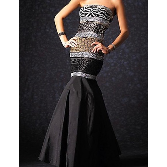 648ba5464b Alyce Paris Dresses | Alyce Black Label Strapless Mermaid Prom Dress ...
